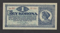 1 korona 1920.  Fő típus!!  UNC!!