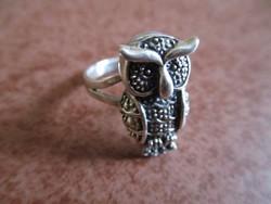 Bagoly ezüst gyűrű