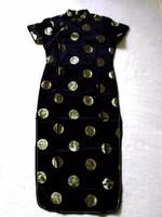 Gyönyörű selyembrokát, eredeti Qipao hosszú alkalmi ruha, kb. 40-42-es
