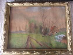 1927-ben készitett akvarell