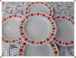 """Centrum Varia """" Piros napos """" retro alföldi csésze alátétek / 5 darab egyenként pótlásra/"""