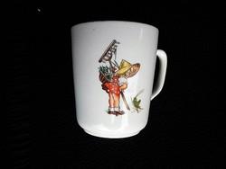 Zsolnay ritka szöcskés csésze