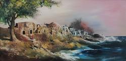 Kedvező áron, ingyen postával! Adilov Kabul: Tengerpart című olajfestménye