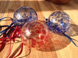 Fújt üveg gömb nagy nehéz légbuborékos üveggömb