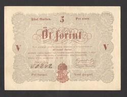 5 forint 1848.  GYÖNYÖRŰ!!  BARNA!!