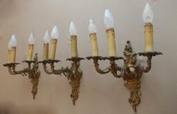 Barokk áttörtmintás falikar garnitúra .3 darab !!