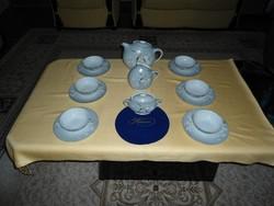 Herendi ANTIK Egyedi  6sz teás garnitúra
