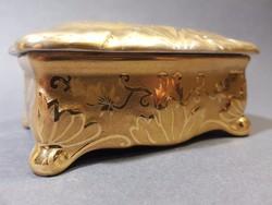 Herendi aranyozott Koszorúsné porcelán tartó