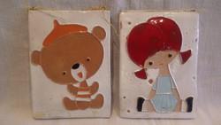 Zsűrizett kerámia falikép pár
