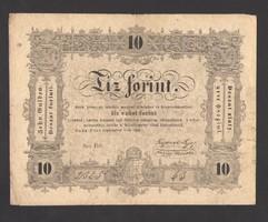 10 forint 1848.  3 hibás!!   NAGYON SZÉP BANKJEGY!!  NAGYON RITKA!!