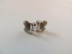 Ródiumos pillangó ezüst füli