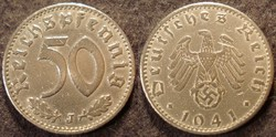 Német III. Birodalom 50 pfennig  1941J