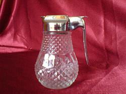 Gyönyörű, bütykös üveg cukortartó