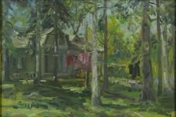"""0O683 Orosz Gellért : """"Tájkép"""" 1955"""