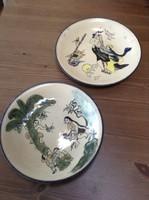 Kézzel festett egzotikus kerámia tányérok