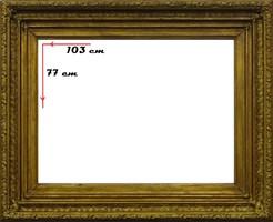 0P077 Antik vágható aranyozott képkeret 77 x 103
