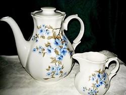 Nálam minden nagyon szép és olcsó!!!  Gyönyörű, jelzett Bavaria porcelán teás kancsó,  tejkiöntővel