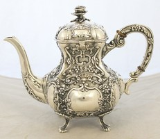 Csodas kaves/teas kanna 830as ezust