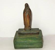 Antik Szűz Mária bronz szobor.