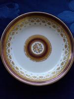 Altwien aranyvirágos tálka bordó csíkkal-13,5 cm