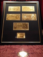 MAGYAR 5-10-20-50-100 PENGŐ UNC ARANY BANKJEGY, BANKJEGYVERET LUXUS FULL SZETT, RITKA AJÁNDÉK