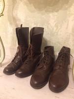 Régi bőr száras cipő és bakancs