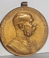 Jubileumi Udvari Emlékérem:I.Ferencz József császár uralkodásának 50.évf.1898.08.18-án adták ki.