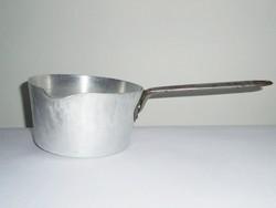 Retro alumínium edény - tejforraló - jelzett, magyar gyártmány