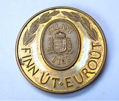Útalapocska,Finn út,Euroút emlékérme 1996,Tóth sándor.