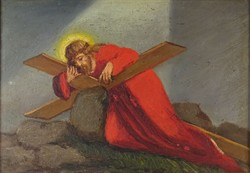 0O761 Mesterházy D. jelz. : Krisztus a kereszttel