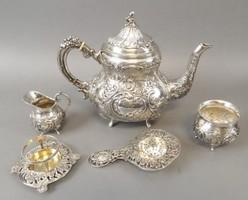 Gyonyoru ezust antik  holland teas.kaves keszlet