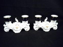 S517 Wallendorf porcelán gyertyatartó pár