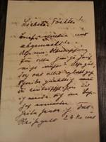 Régi kézírás, levél az 1910-es évekből