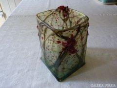 Egy különleges művészüveg! Smetana Ágnes: Üveg váza (81)