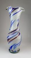 0O425 Régi muránói művészi üveg váza 32.5 cm