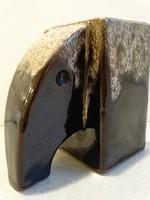 Retro kerámia elefántváza