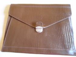 Barna műbőr Irattáska irattartó táska