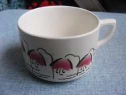 Gránit virágos csésze