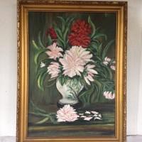 Olaj-vászon csendélet festmény