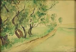 0P070 Ismeretlen festő : Poros út 1931