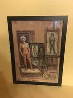 Női akt(A festő és modellje)