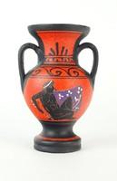 0P495 Görög festett kisváza kerámia kópia