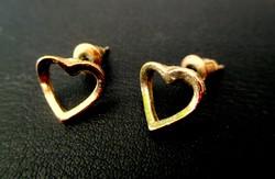 Arany színű szívecske fülbevaló