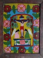 Eredeti erdélyi kézzel festett üveg ikon