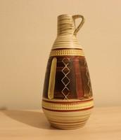 Eredeti jelzett Germany retro füles váza, kancsó 1960-70-es évek