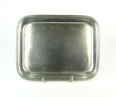 0P211 Régi Blanc Metal alpakka tálca