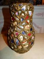 Ritka váza - régi csésze díszítés.