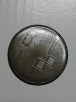 Zsebóra hátlap, díszes acél