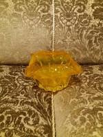Napsárga üveg kaspó, asztalközép