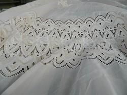 Hatalmas gyönyörű fehér - vajszinű csipkefüggyöny - függöny 2,5m*5m